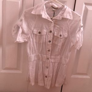 White Button Up Blouse !